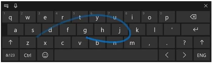 Shape-writing on full-sized keyboard